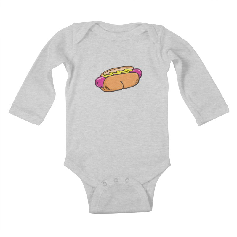 Hot Dog BUNS Kids Baby Longsleeve Bodysuit by Brian Cook