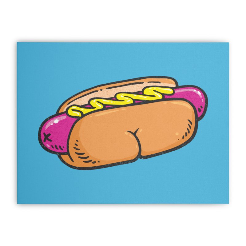 Hot Dog BUNS Home Stretched Canvas by Brian Cook