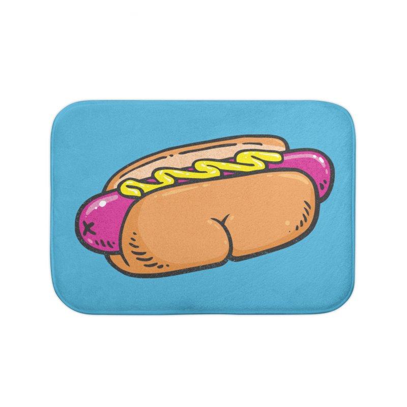 Hot Dog BUNS Home Bath Mat by Brian Cook