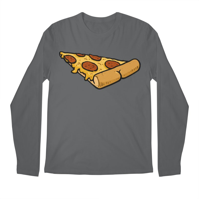 Pizza BUTT Men's Longsleeve T-Shirt by Brian Cook