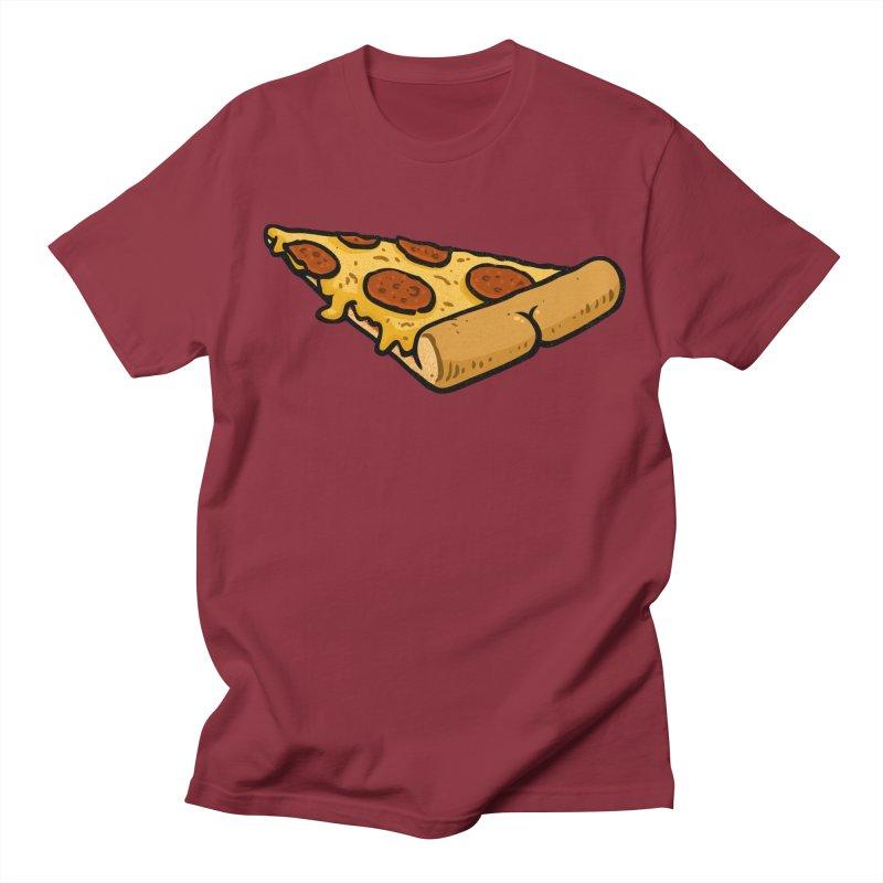 Pizza BUTT Men's T-shirt by Brian Cook