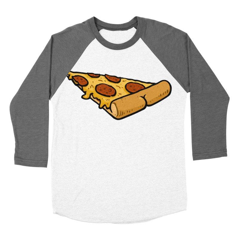 Pizza BUTT Women's Baseball Triblend T-Shirt by Brian Cook