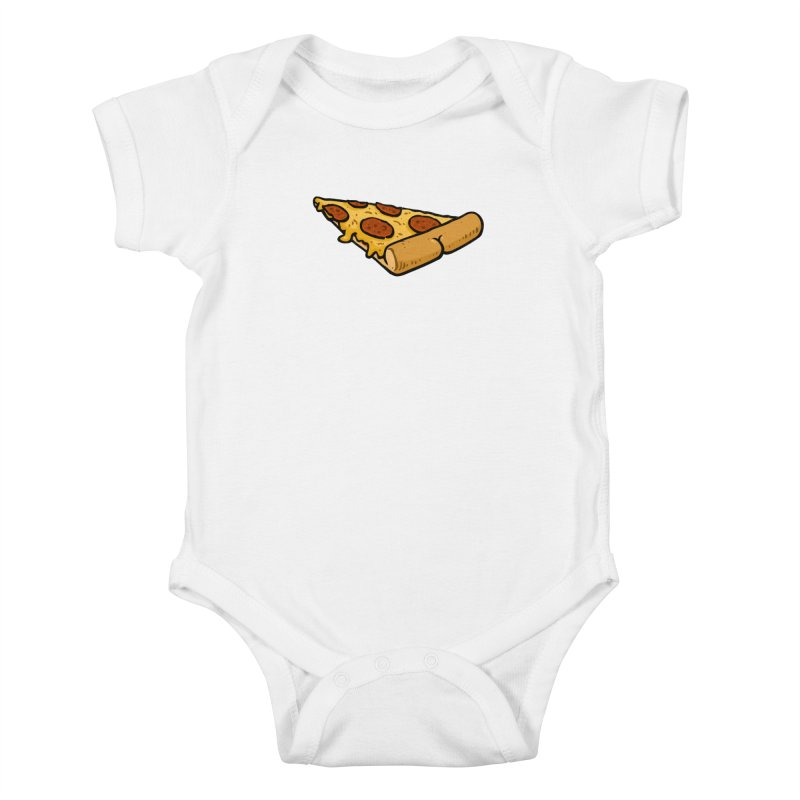 Pizza BUTT Kids Baby Bodysuit by Brian Cook