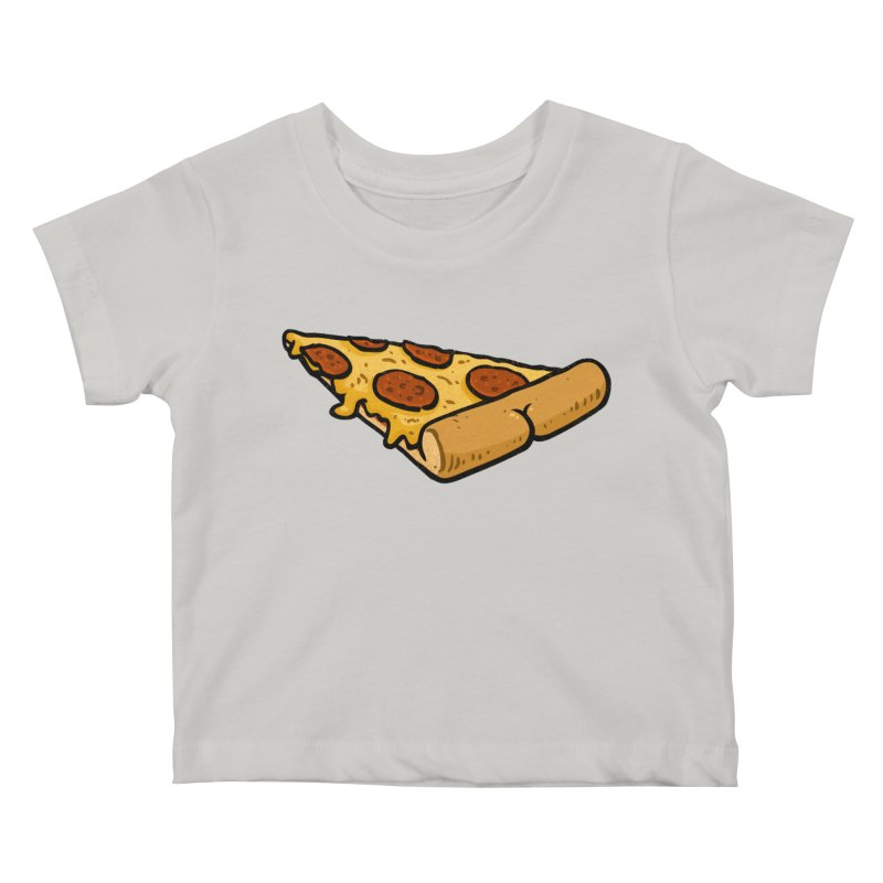 Pizza BUTT Kids Baby T-Shirt by Brian Cook