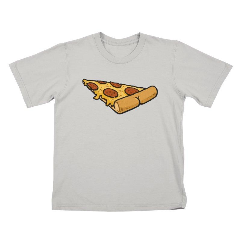 Pizza BUTT Kids T-shirt by Brian Cook