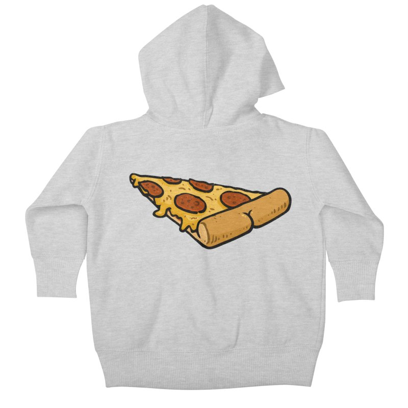 Pizza BUTT Kids Baby Zip-Up Hoody by Brian Cook
