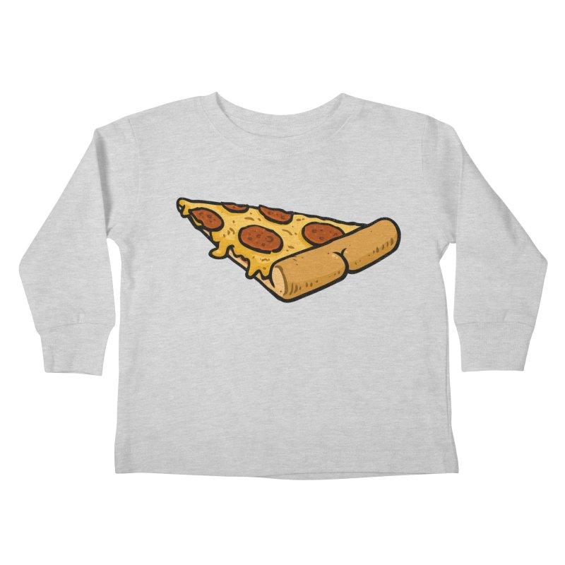 Pizza BUTT Kids Toddler Longsleeve T-Shirt by Brian Cook