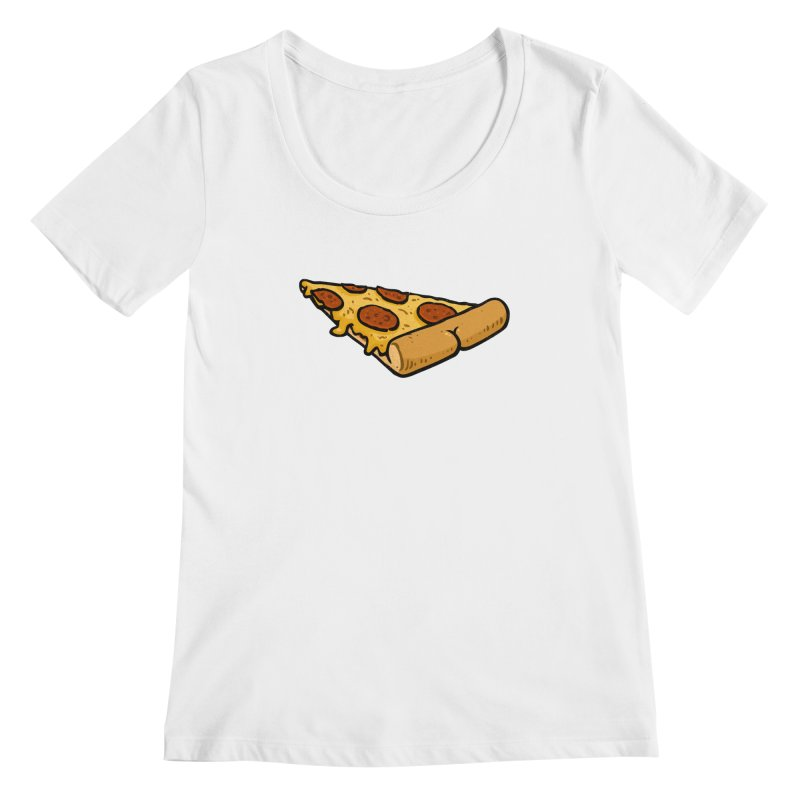 Pizza BUTT Women's Scoopneck by Brian Cook