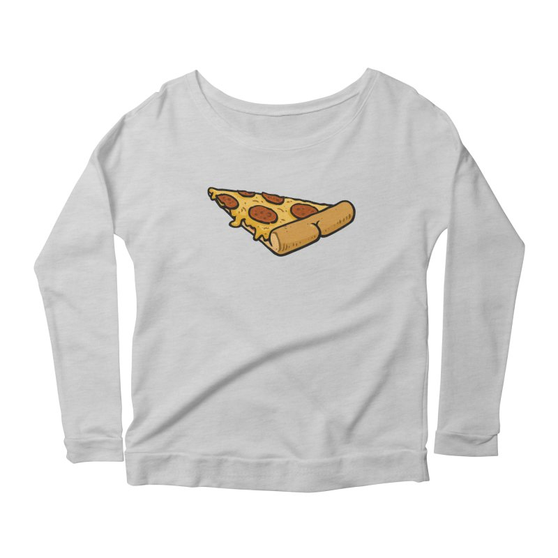 Pizza BUTT Women's Longsleeve Scoopneck  by Brian Cook