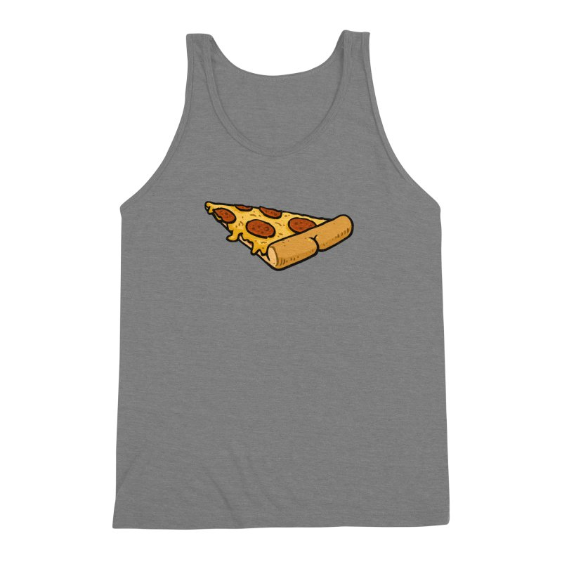 Pizza BUTT Men's Triblend Tank by Brian Cook