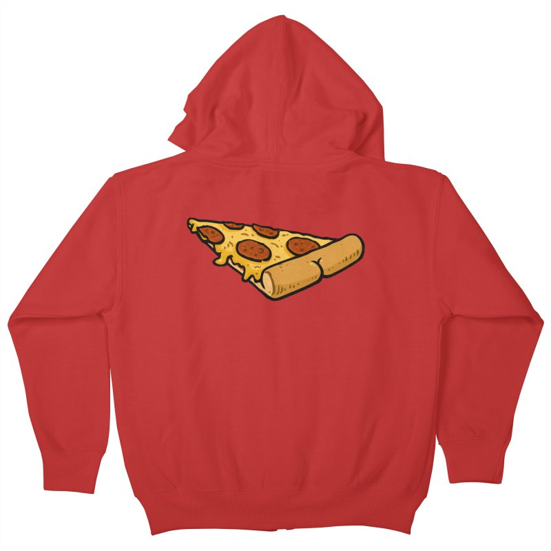 Pizza BUTT Kids Zip-Up Hoody by Brian Cook