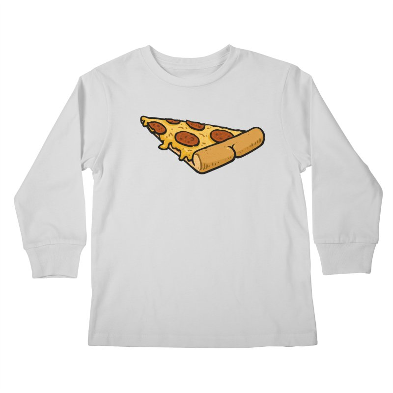 Pizza BUTT Kids Longsleeve T-Shirt by Brian Cook