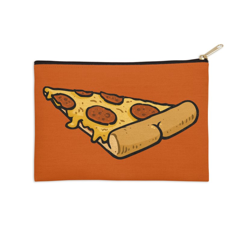 Pizza BUTT Accessories Zip Pouch by Brian Cook