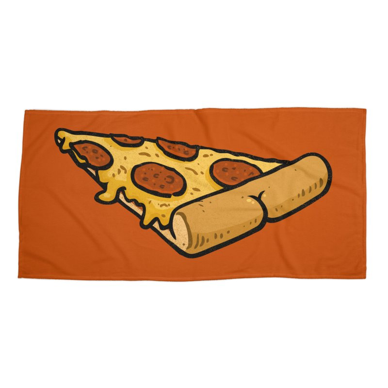 Pizza BUTT Accessories Beach Towel by Brian Cook