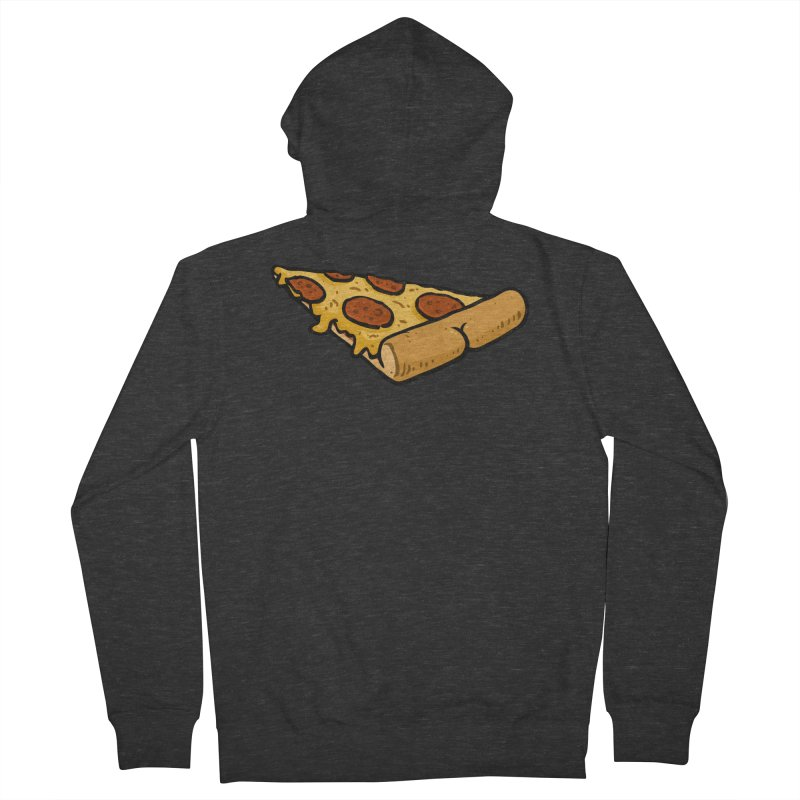 Pizza BUTT Women's Zip-Up Hoody by Brian Cook
