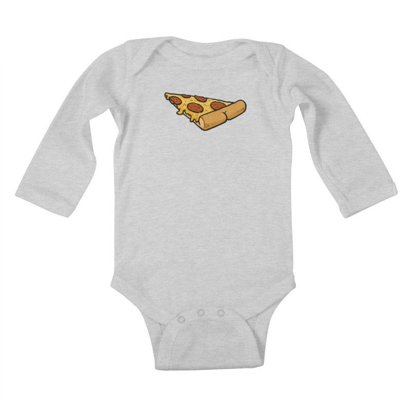 Pizza BUTT Kids Baby Longsleeve Bodysuit by Brian Cook