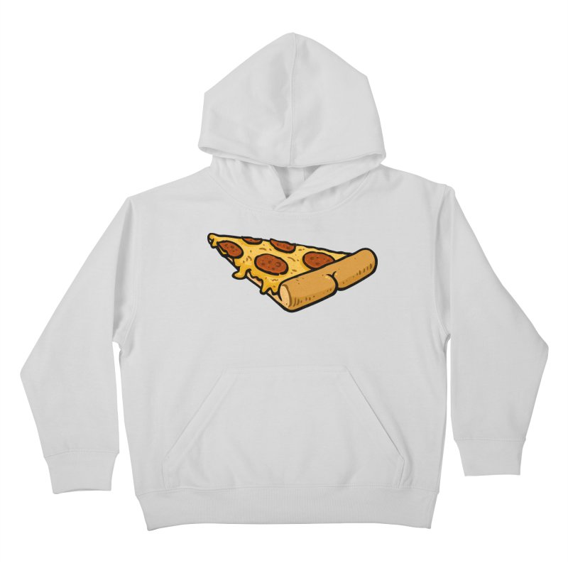 Pizza BUTT Kids Pullover Hoody by Brian Cook