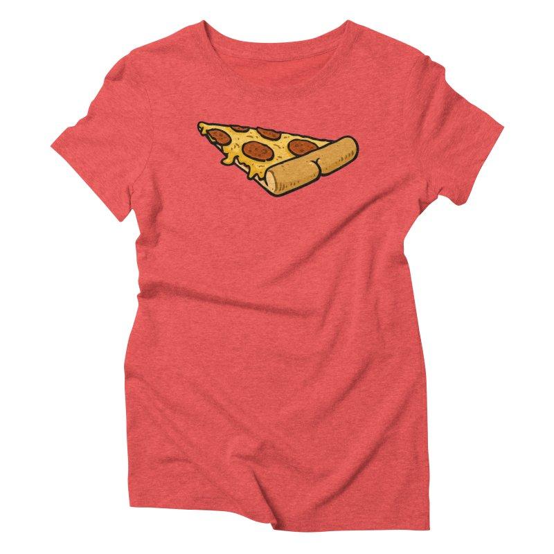 Pizza BUTT Women's Triblend T-Shirt by Brian Cook