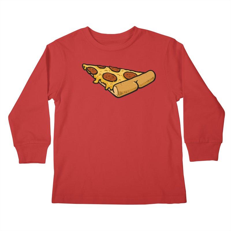 Pizza BUTT Kids Longsleeve T-Shirt by Brian Cook