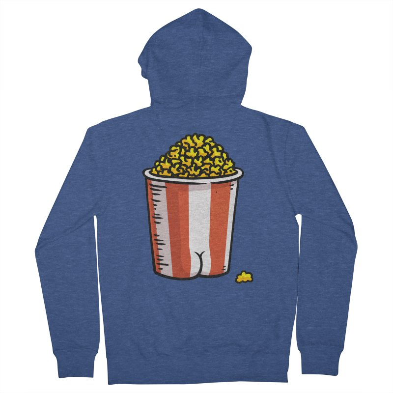 Popcorn BUTT Women's Zip-Up Hoody by Brian Cook