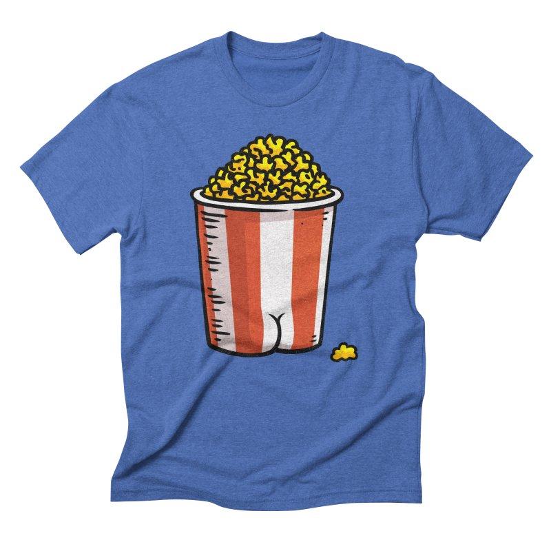 Popcorn BUTT Men's Triblend T-shirt by Brian Cook