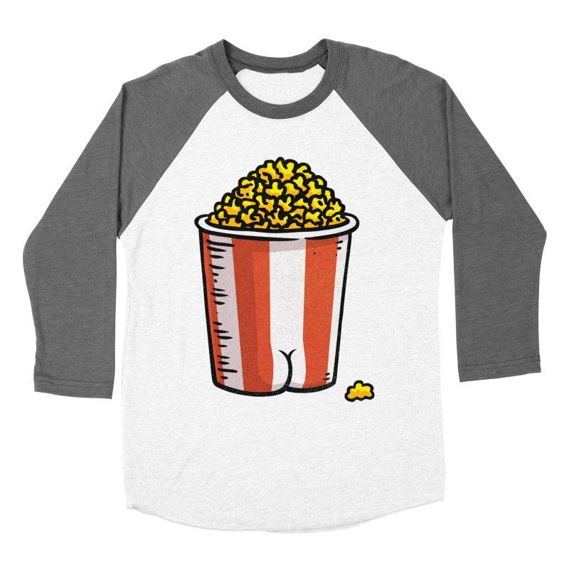 Popcorn BUTT Women's Baseball Triblend T-Shirt by Brian Cook