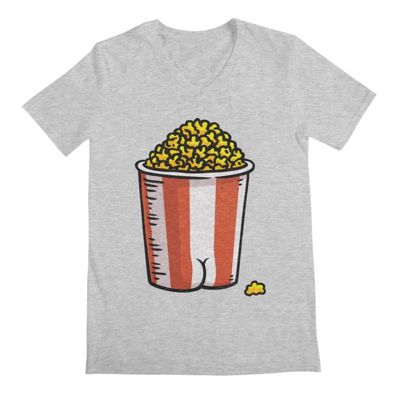 Popcorn BUTT Men's V-Neck by Brian Cook