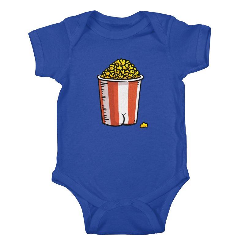 Popcorn BUTT Kids Baby Bodysuit by Brian Cook