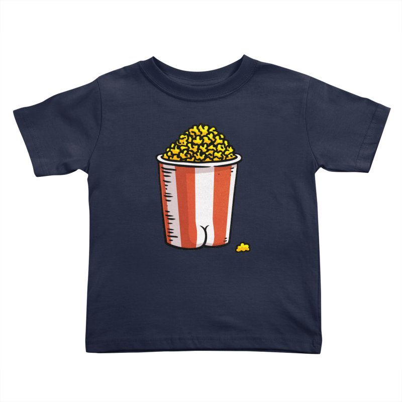 Popcorn BUTT Kids Toddler T-Shirt by Brian Cook