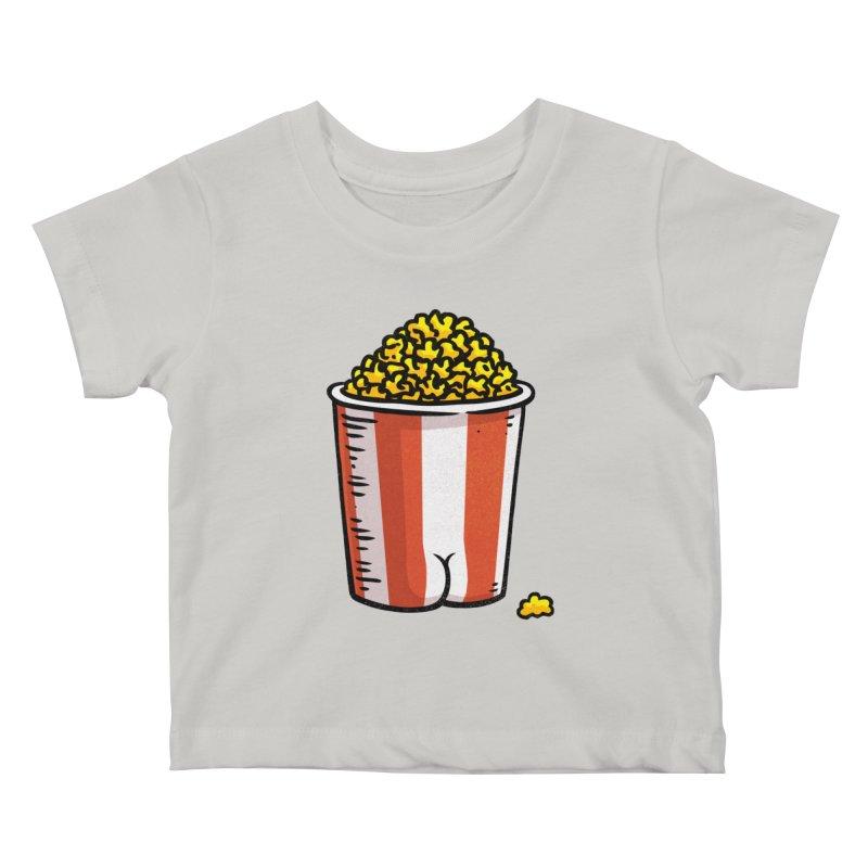 Popcorn BUTT Kids Baby T-Shirt by Brian Cook
