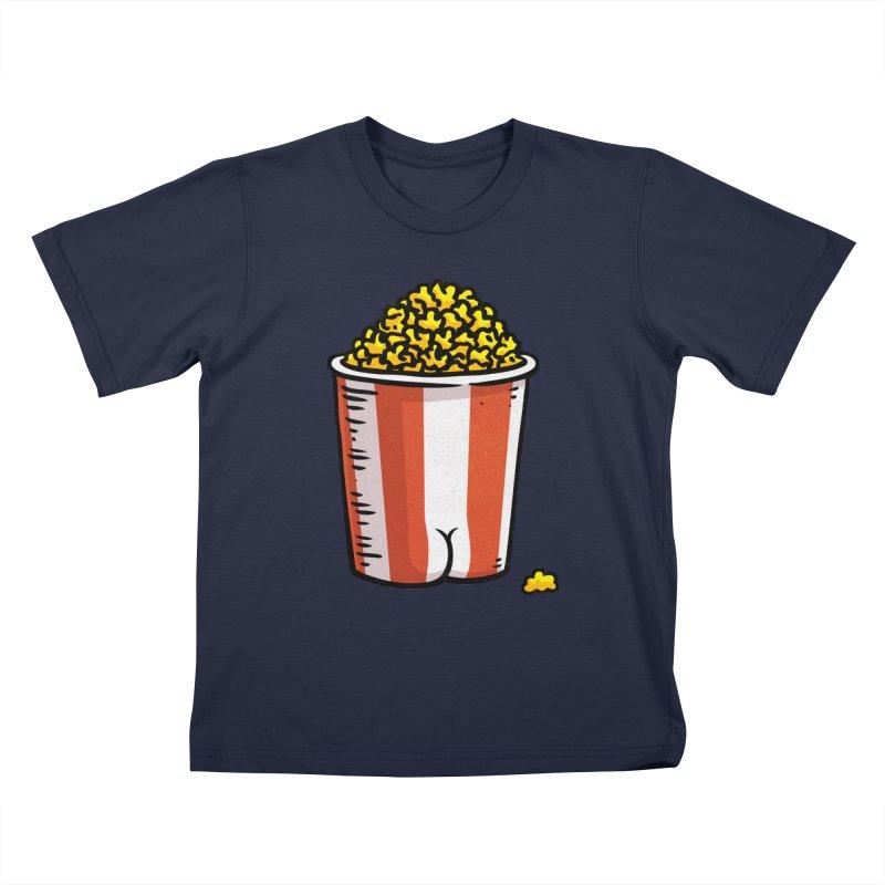 Popcorn BUTT Kids T-shirt by Brian Cook