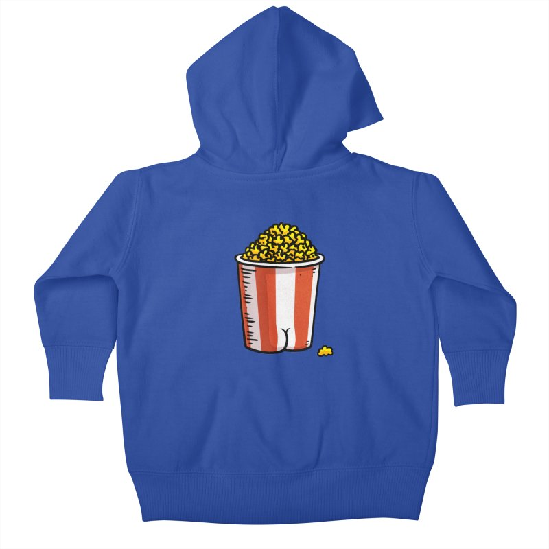Popcorn BUTT Kids Baby Zip-Up Hoody by Brian Cook