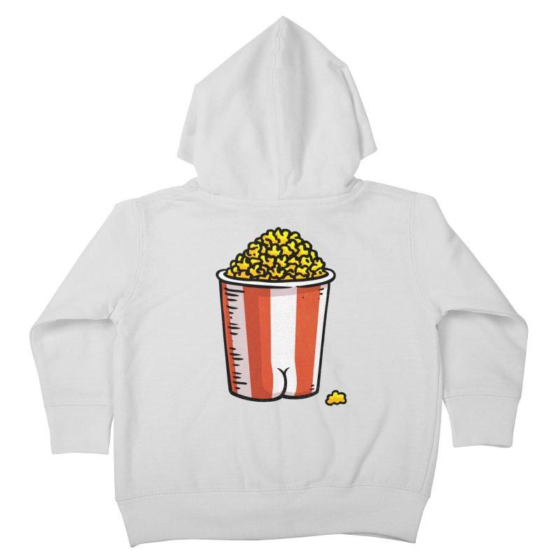 Popcorn BUTT Kids Toddler Zip-Up Hoody by Brian Cook