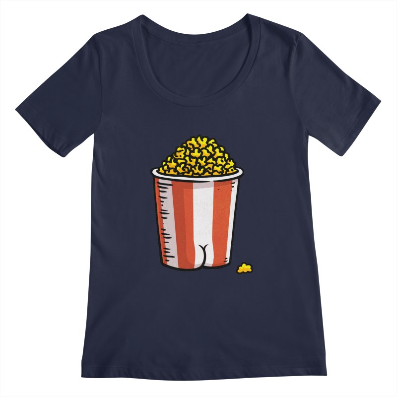 Popcorn BUTT Women's Scoopneck by Brian Cook