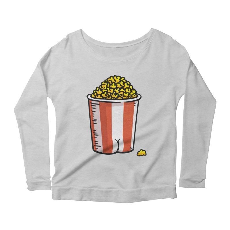 Popcorn BUTT Women's Longsleeve Scoopneck  by Brian Cook
