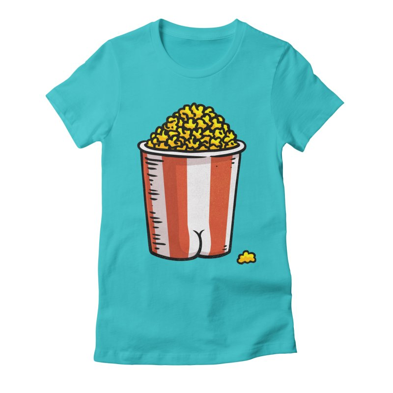 Popcorn BUTT Women's Fitted T-Shirt by Brian Cook