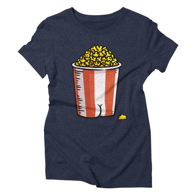 Popcorn BUTT Women's Triblend T-shirt by Brian Cook