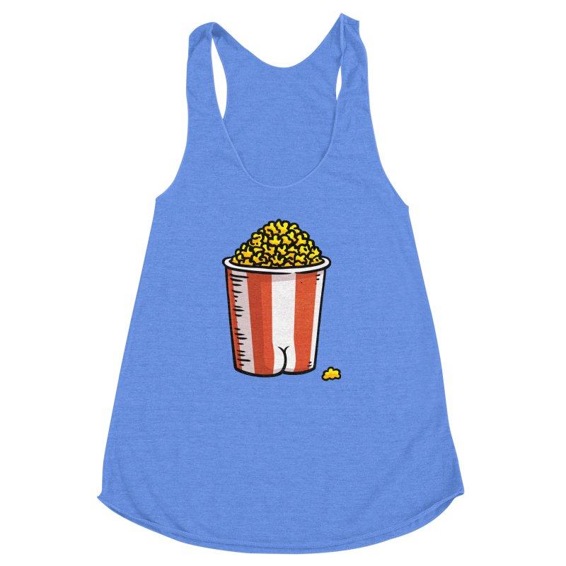 Popcorn BUTT Women's Racerback Triblend Tank by Brian Cook