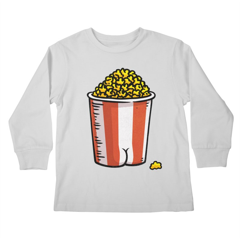 Popcorn BUTT Kids Longsleeve T-Shirt by Brian Cook