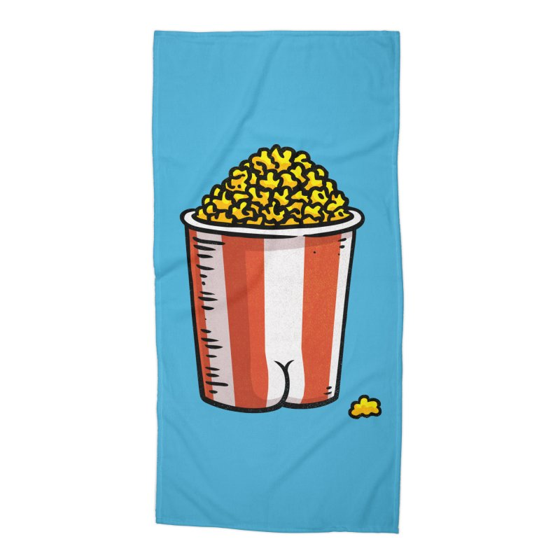 Popcorn BUTT Accessories Beach Towel by Brian Cook