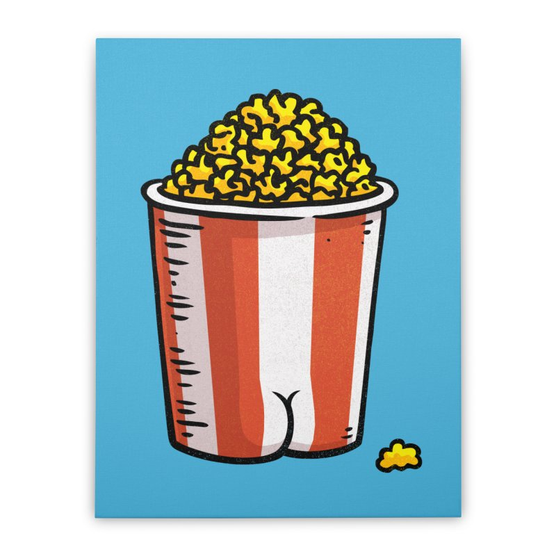 Popcorn BUTT Home Stretched Canvas by Brian Cook