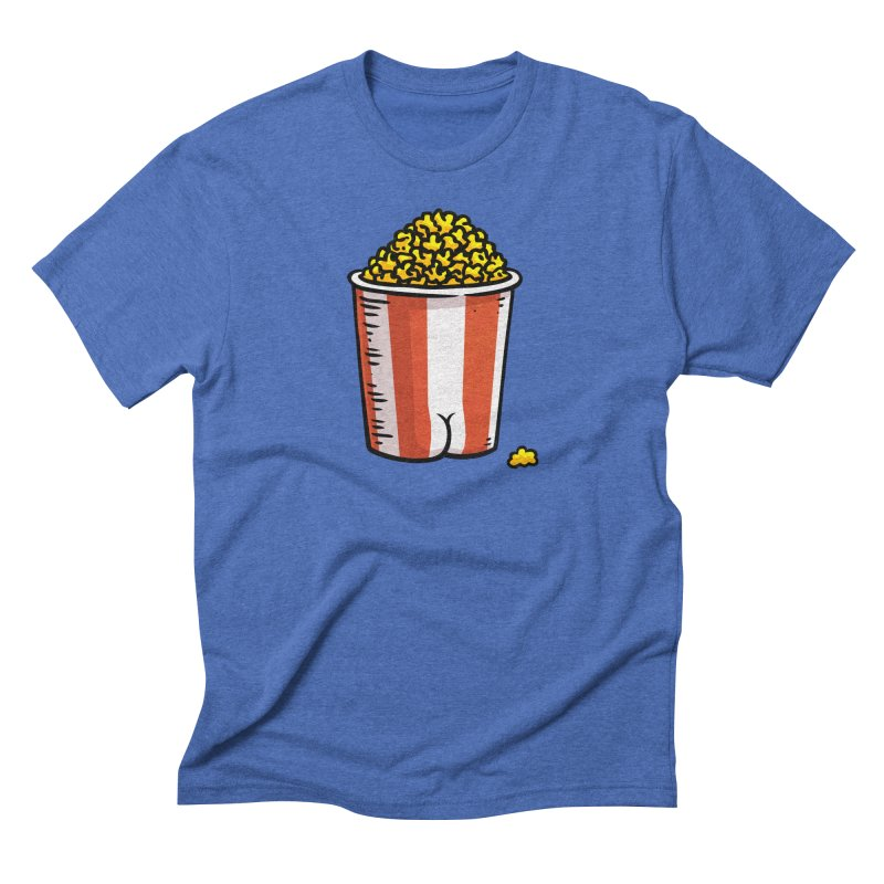Popcorn BUTT Men's Triblend T-Shirt by Brian Cook