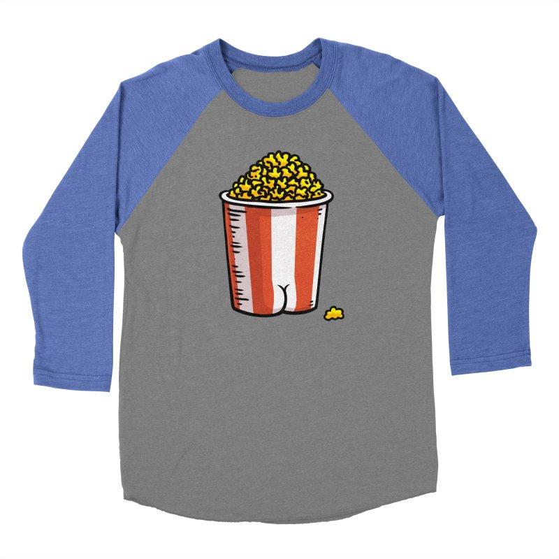 Popcorn BUTT Men's Baseball Triblend T-Shirt by Brian Cook