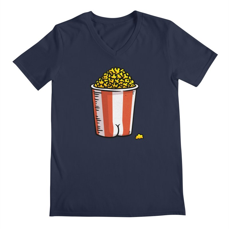 Popcorn BUTT Men's V-Neck by Brian Cook