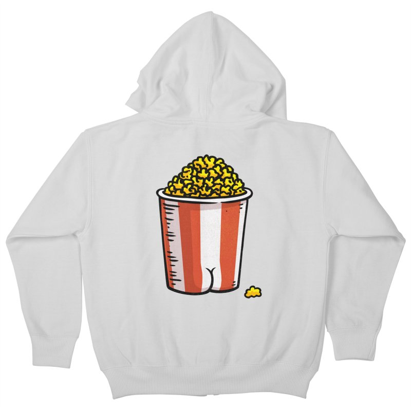 Popcorn BUTT Kids Zip-Up Hoody by Brian Cook