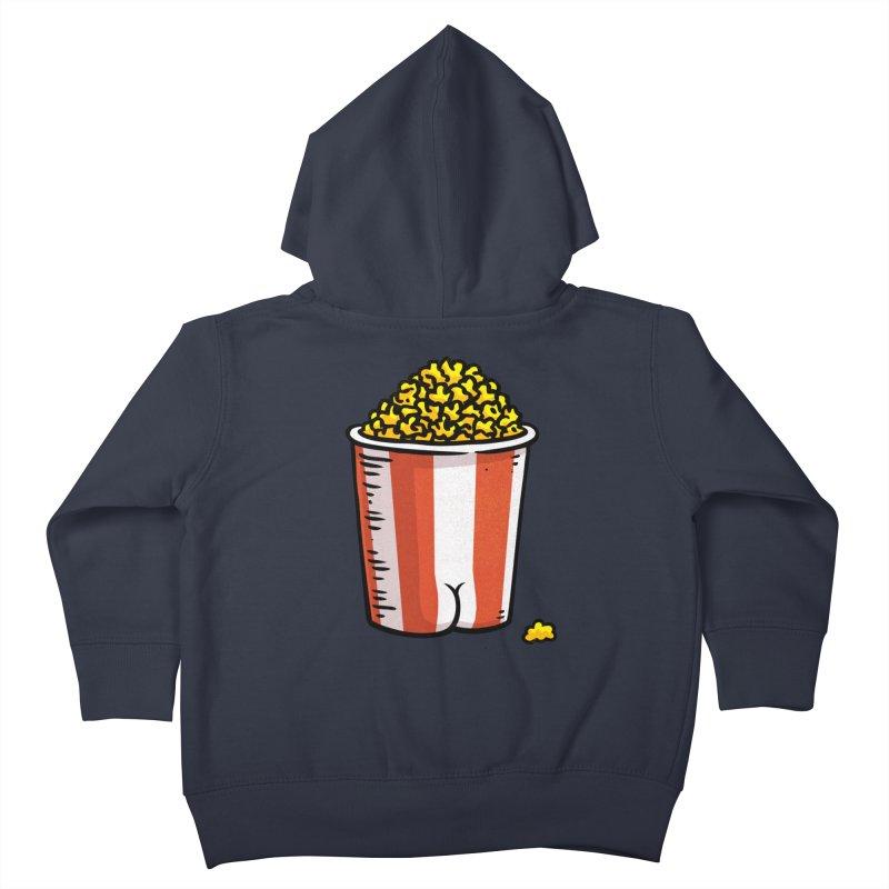 Popcorn BUTT Kids Toddler Zip-Up Hoody by Brian Cook