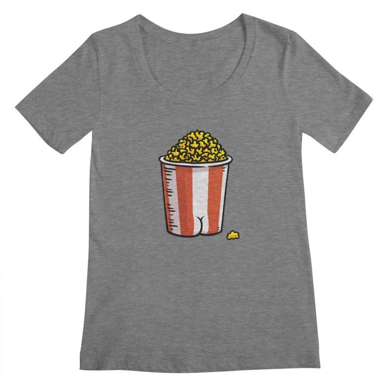 Popcorn BUTT Women's Scoopneck by Brian Cook