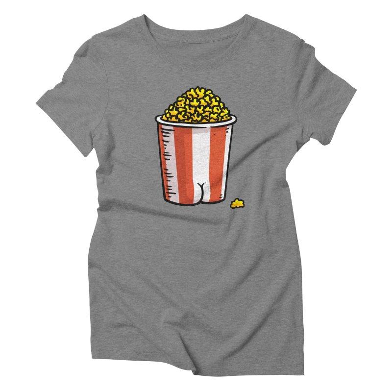 Popcorn BUTT Women's Triblend T-Shirt by Brian Cook