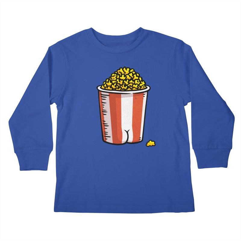 Popcorn BUTT Kids Longsleeve T-Shirt by Brian Cook