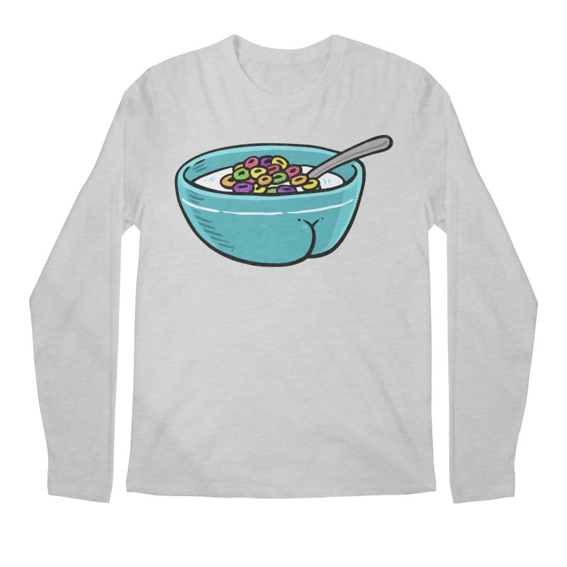 Cereal BUTT Men's Longsleeve T-Shirt by Brian Cook